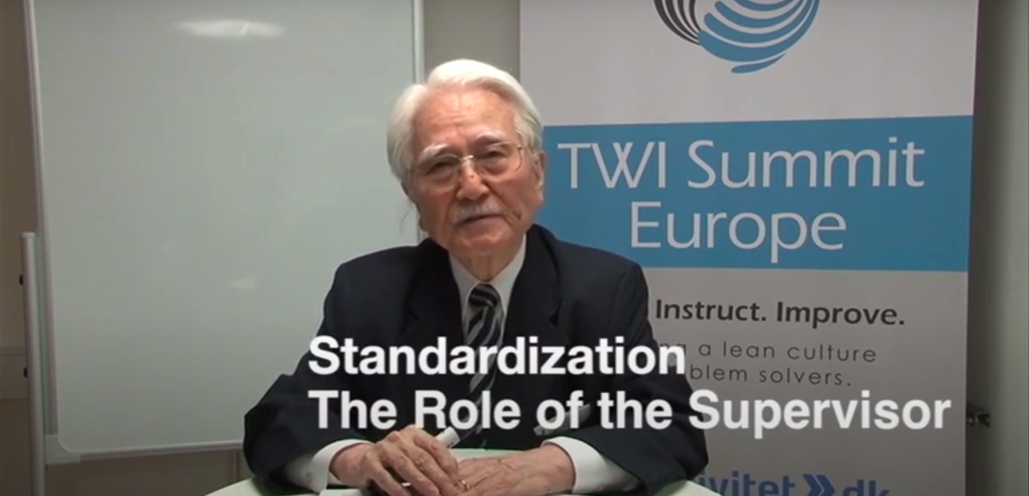 Masaaki Imai : Standardized work and the Role of the Supervisor